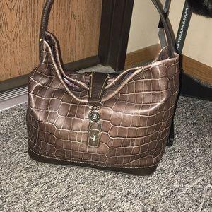 Vintage Dooney & Bourke Lock Shoulder Bag